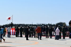 霞目駐屯地の記念式典