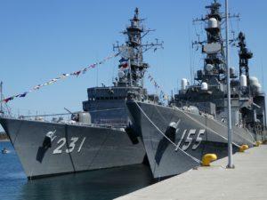 大湊基地の艦船