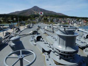 護衛艦の甲板