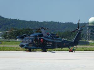松島基地の救難ヘリ