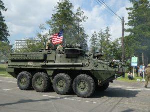米軍ストライカー装甲車