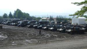 岩手駐屯地の車両