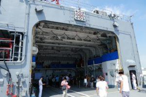 護衛艦さわぎりの格納庫