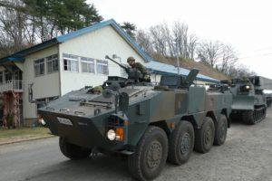 地上展示の96式装輪装甲車