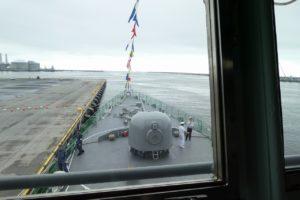 ちくまの艦橋から見る主砲