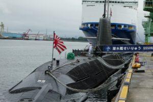 潜水艦せいりゅうの全景