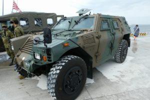 地上展示の軽機動装甲車