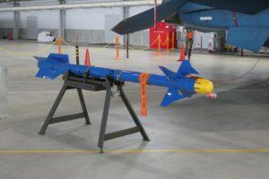 屋内展示の空対空ミサイル
