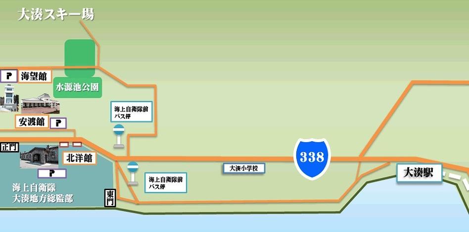 大湊基地の駐車場マップ