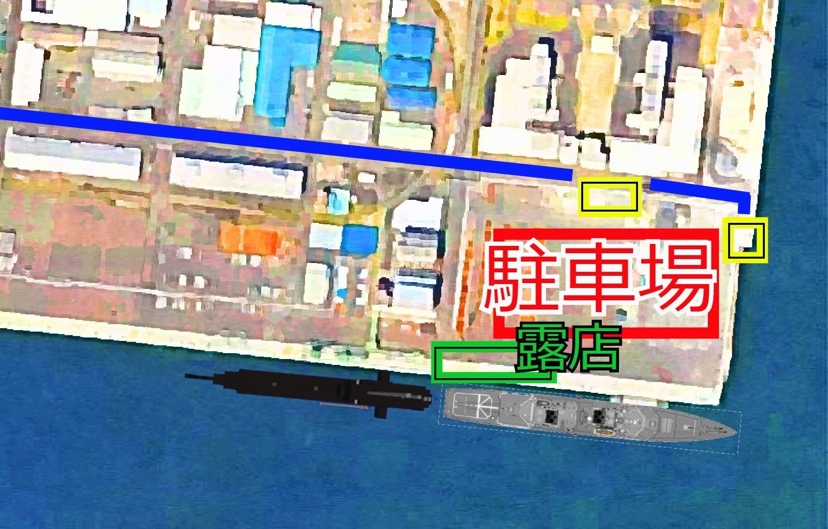 仙台港の護衛艦公案内図