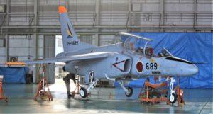 T-4練習機の整備