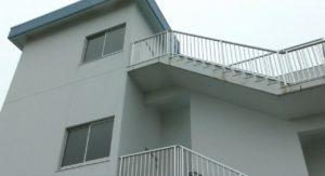松島基地内の展望塔階段