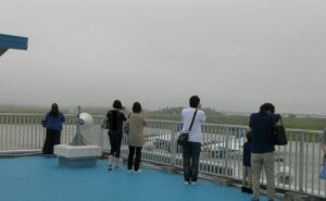 松島基地内の展望塔の風景