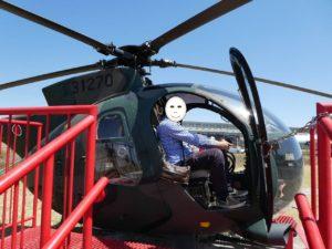 ヘリコプターOH-6Dへ搭乗