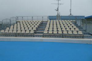 松島基地内の観覧席