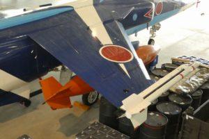 格納庫内のT-2ブルーインパルスミサイル