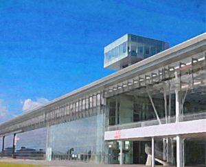 三沢航空科学館の展望デッキ